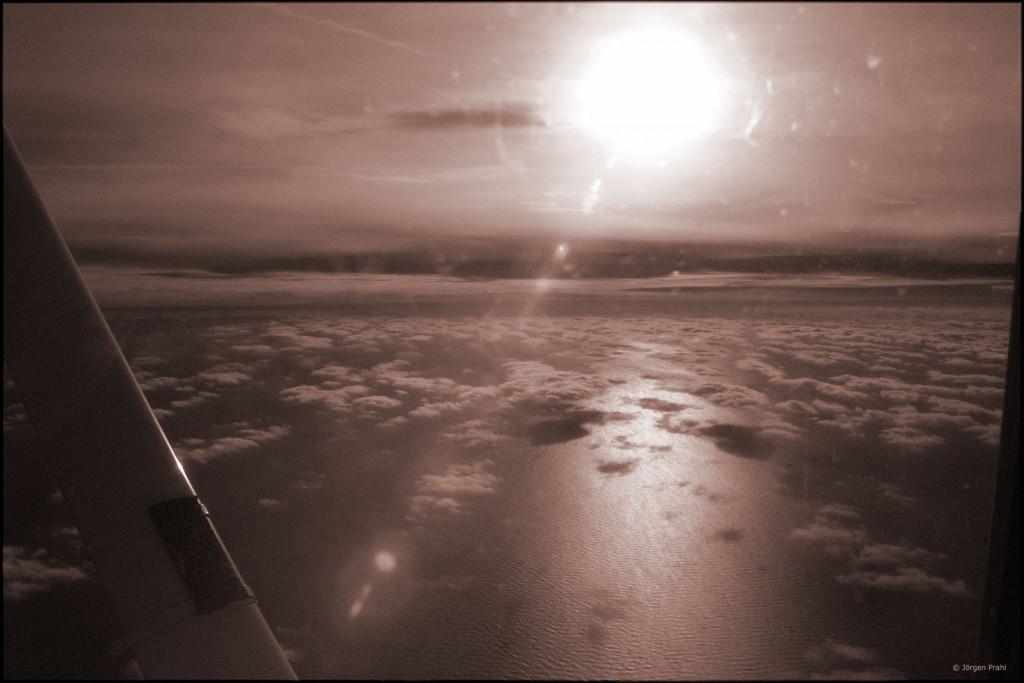 Vinterflygning på 6000 fot över Östersjön