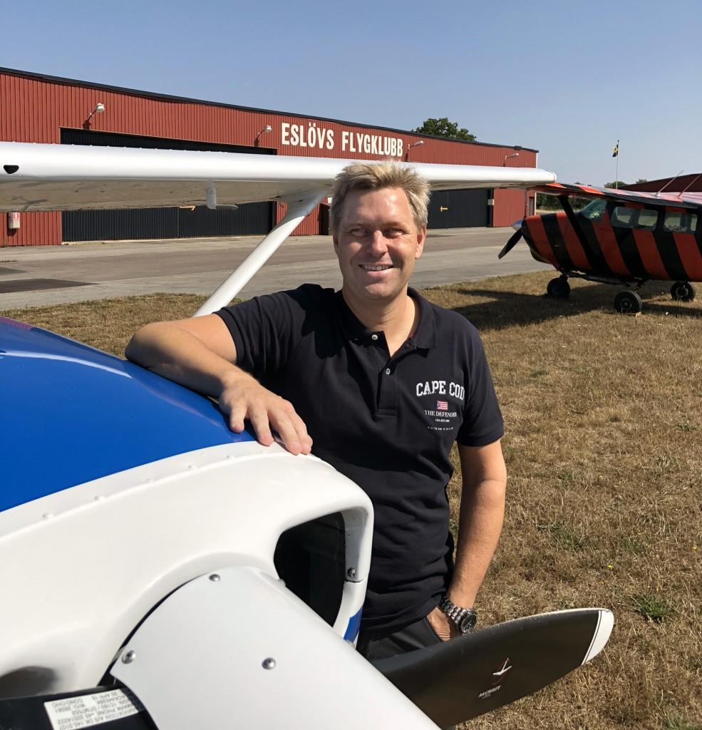 Stort Grattis till Johan Kellerman som klarade uppflygningen 180809. Flygläraren Ervin Partin tog bilden. Grattis från hela EFK