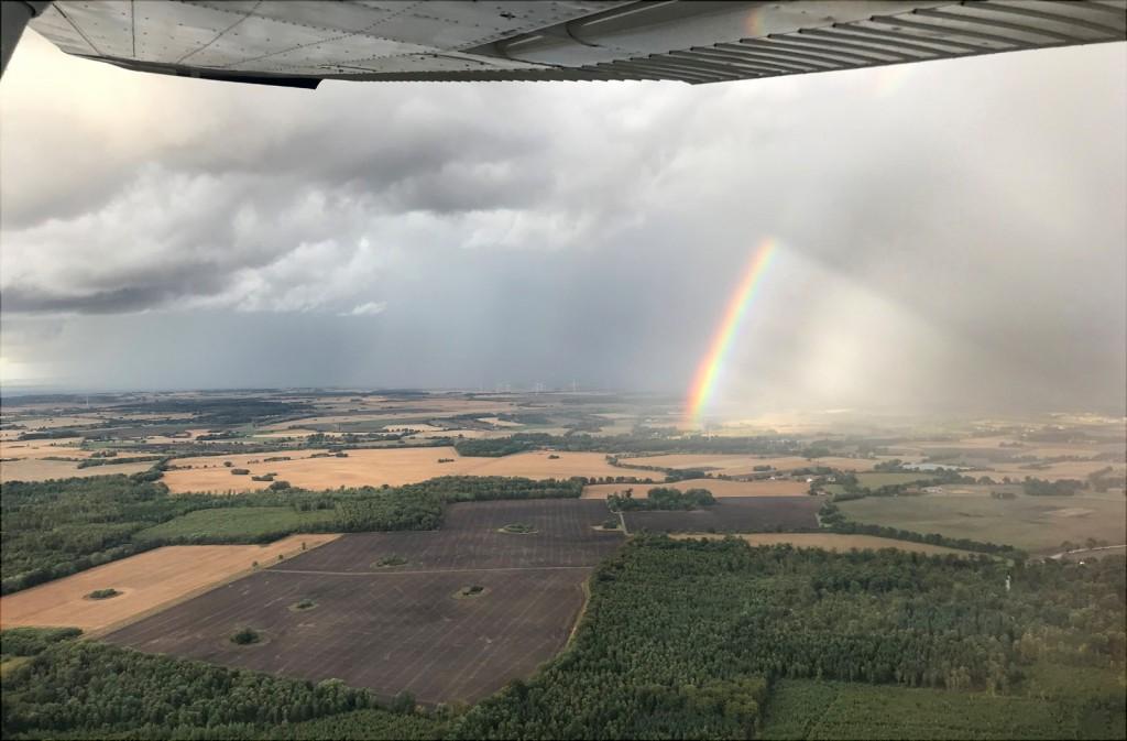 180811 regnbåge över Skåneland / Foto: Tue Kjaer