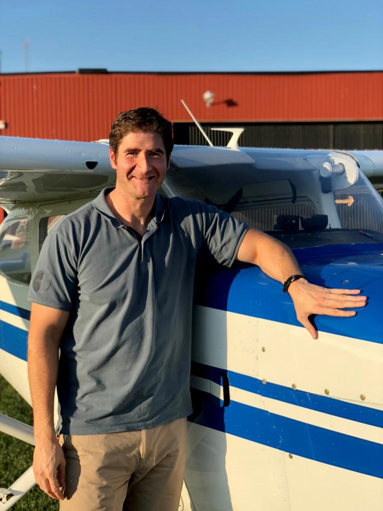 Stort grattis till Joaquin Durán Toro som i dag 20181015 klarade uppflygningen. Inspektör från TS var Hans Lundberg. Flyglärare Ervin Partin tog bilden.