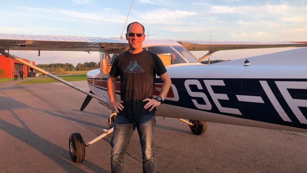 Georg Hulla flög EK provet 2020-09-29. På marken övervakade FI Robert Fasth. Stort Grattis från EFK / styrelsen