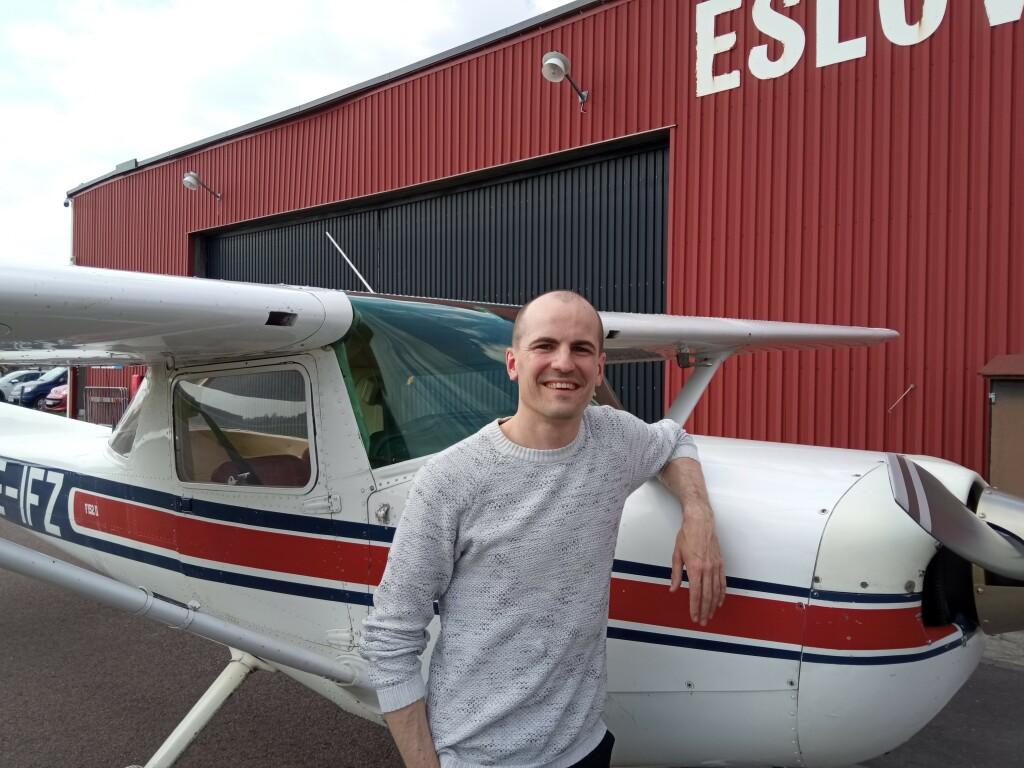 Stort Grattis till Martin Berntsson som klarade EK flygningen 2021-05-13. På marken övervakade Robert Fasth