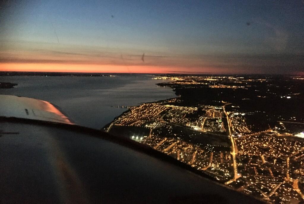 Skymning över Helsingborg