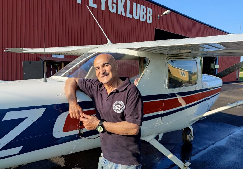 Stort Grattis till Saeid Hosseini-Mehr som klarade uppflygningen till LAPL den 21 Juni. TS inspektör var Ulf Hansson och FI Robert Fasth.