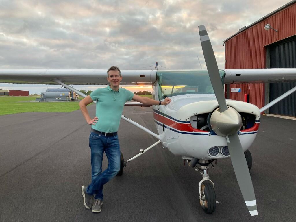 Stort grattis till Oskar Ferm som klarade PPL uppflygningen 14 sept 2021. Ulf Hansson vars inspektör från TS och FI Robert Fasth